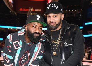 Celebrities Attend Philadelphia 76ers vs Atlanta Hawks