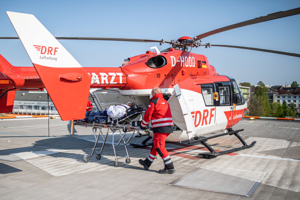 Recovered corona patients are flown out