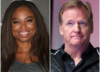 Jemele Hill and Roger Goodell