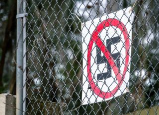 Florida, Gainesville, anti Nazi sign