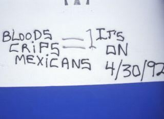 Gang graffiti, South Central Los Angeles, California