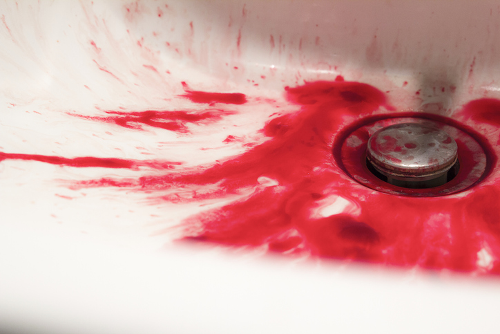 A Tub Full Of Blood Suggests A Tragic Event, Probably A Suicide.