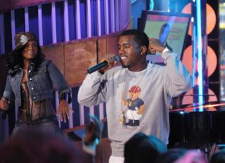 "Kanye West and J-Kwon Visit MTV's ""TRL"" - March 31, 2004"