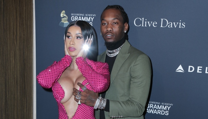 Cardi B Offset at Clive Davis Pre-Grammy Party