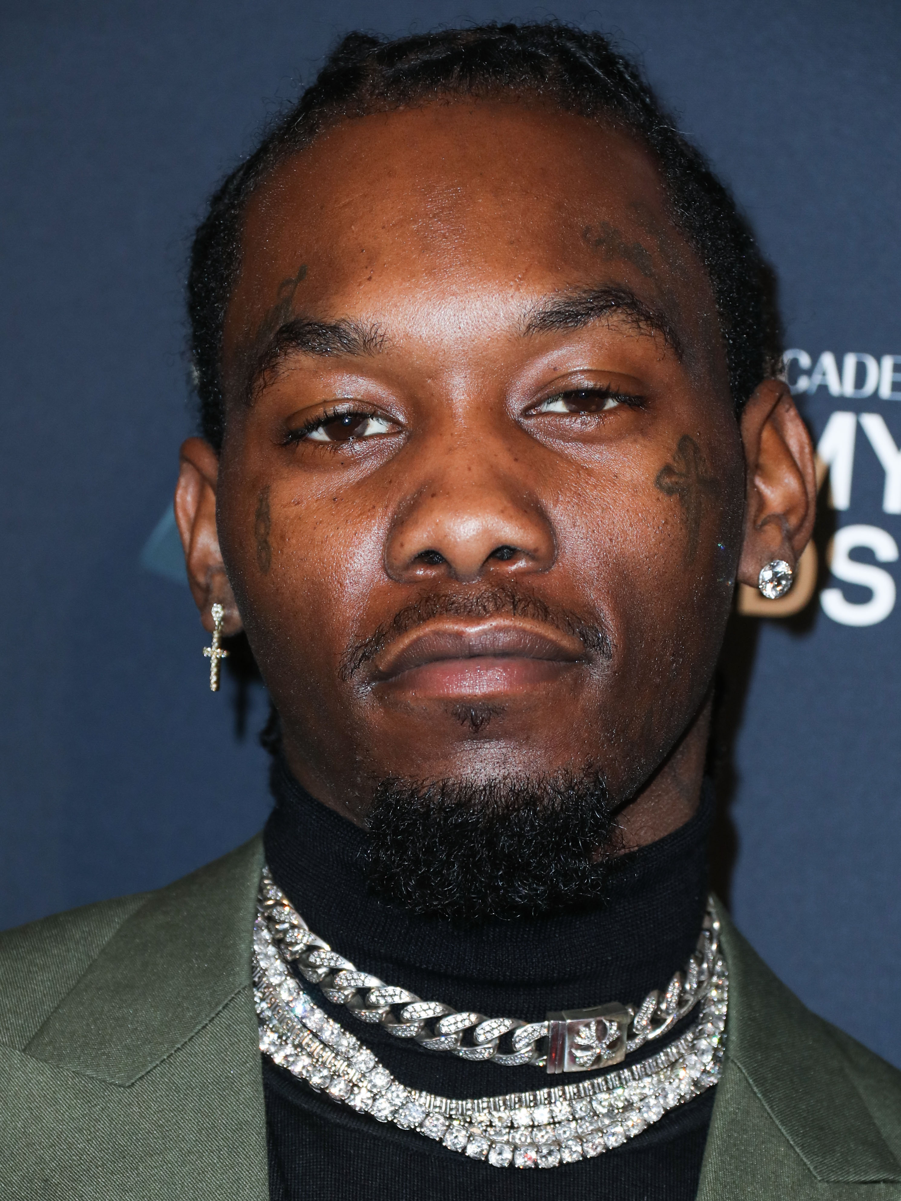 Offset arrives at The Recording Academy And Clive Davis' 2020 Pre-GRAMMY Gala held at The Beverly Hilton Hotel on January 25, 2020 in Beverly Hills, Los Angeles, California, United States.