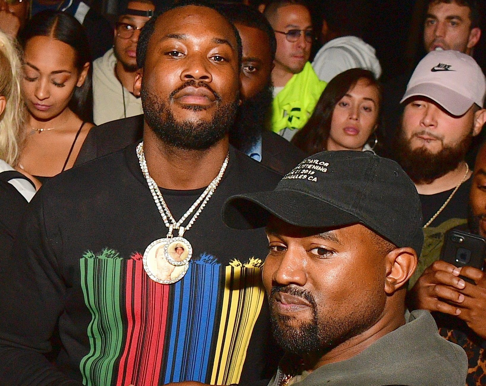 Meek Mill & Kanye West At Listening Session