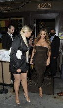 Larsa Pippen dines out at Il Pastaio with Cole and Kelsey Muscatel