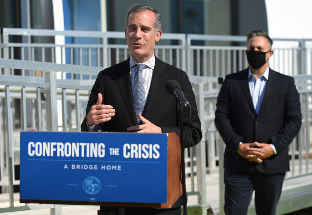 The city of Los Angeles opens the 16th Bridge Home shelter to house 100 adults experiencing homelessness