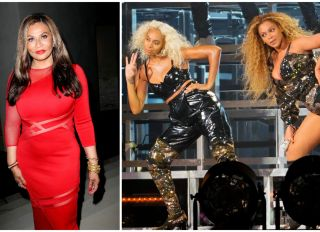 Tina Knowles-Lawson and daughters Beyoncé Knowles-Carter and Solange Knowles