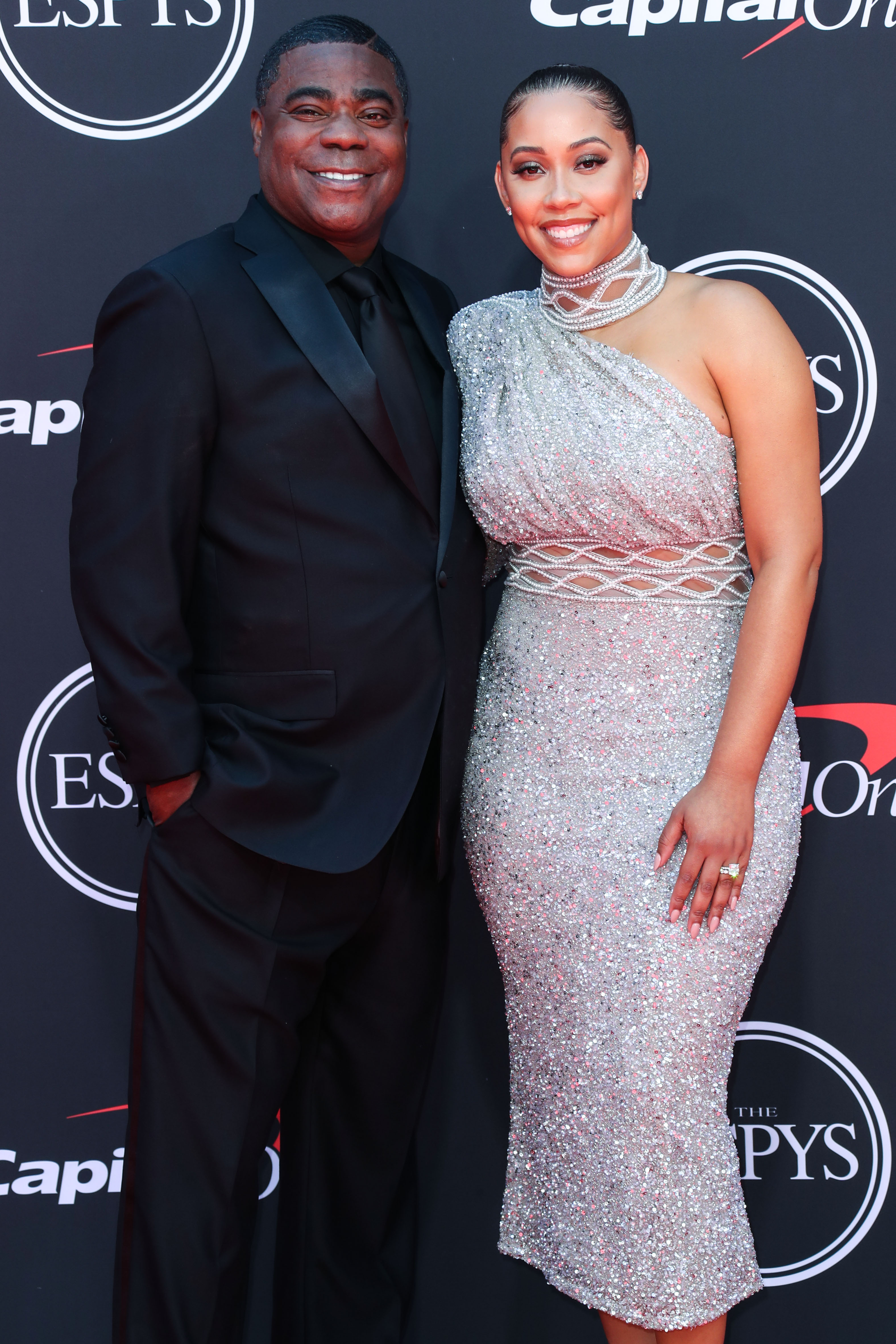 Tracy Morgan and Megan Wollover arrive at the 2019 ESPY Awards held at Microsoft Theater L.A. Live on July 10, 2019 in Los Angeles, California, United States. (Photo by Xavier Collin/Image Press Agency)