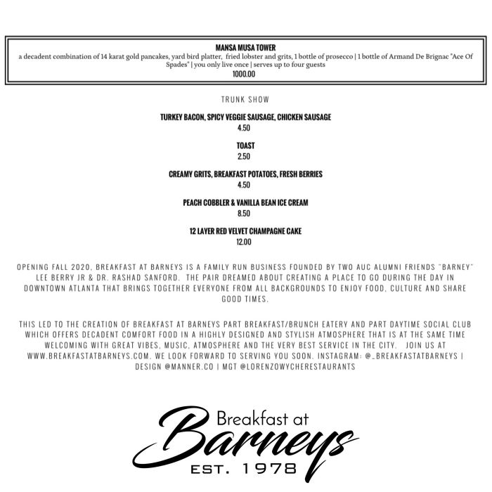 Breakfast At Barney's