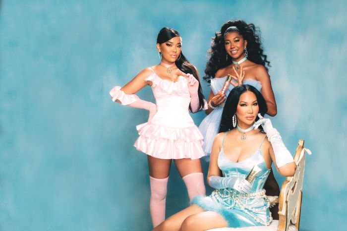 Baby Phat Beauty Campaign Images of Kimora Lee Simmons, Ming Lee Simmons, Aoki Lee Simmons and their products