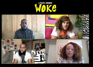 "Screengrabs from BOSSIP interviews from the cast of new Hulu show ""WOKE"""
