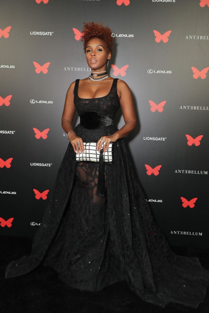 Janelle Monáe and more at Antebellum Rooftop Cinematic Experience at The Grove on September 14, 2020