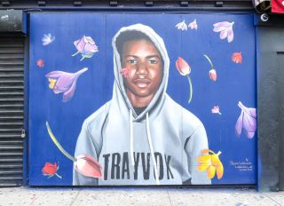 Trayvon Martin Mural Unveiling New York City