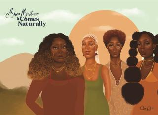 Shea Moisture It Comes Naturally Campaign - Four Women