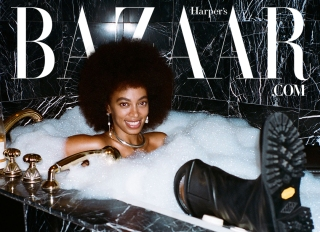 Solange Knowles covers Harper's Bazaar digital issue