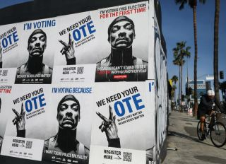 """Vote"" Murals Spring Up Around Los Angeles"