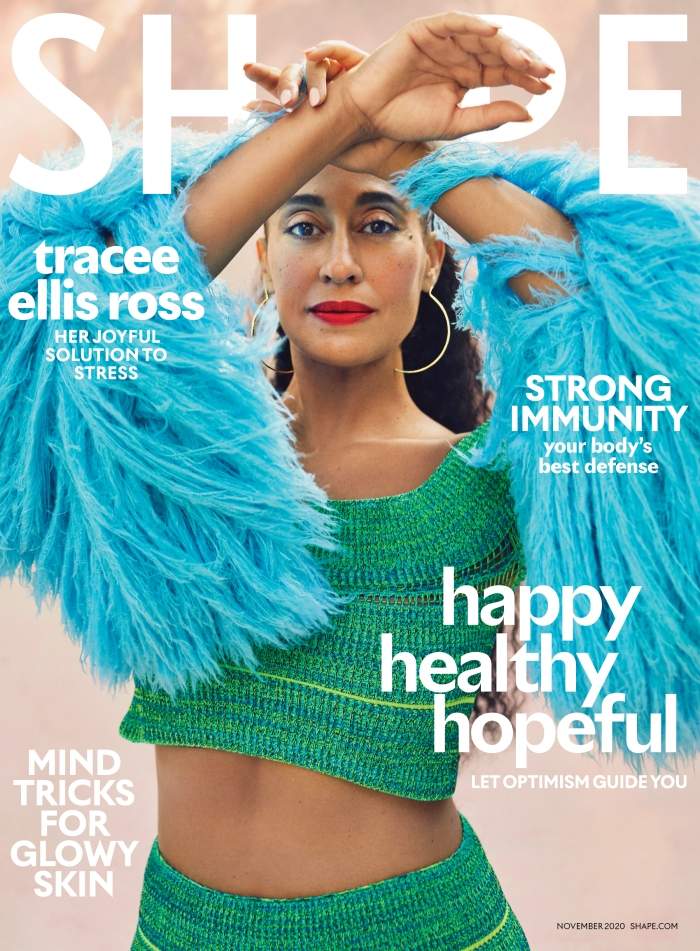 Tracee Ellis Ross covers Shape Magazine on newsstands October 16