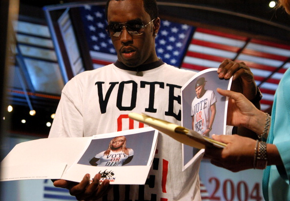 "Sean ""P. Diddy"" Combs Visits Fleet Center Campaigning for ""Citizen Change"""