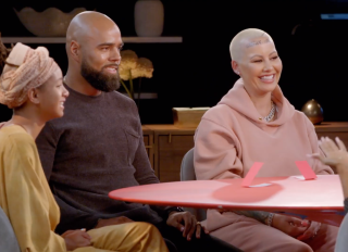 Red Table Talk screengrabs from consent episode with Rumer Willis, Amber Rose, DeAndre Levy and Amber Rose