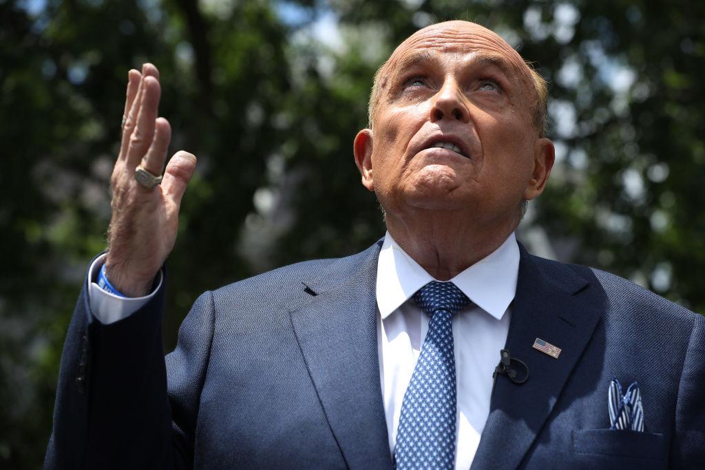 Rudy Giuliani Speaks To Media Members At The White House