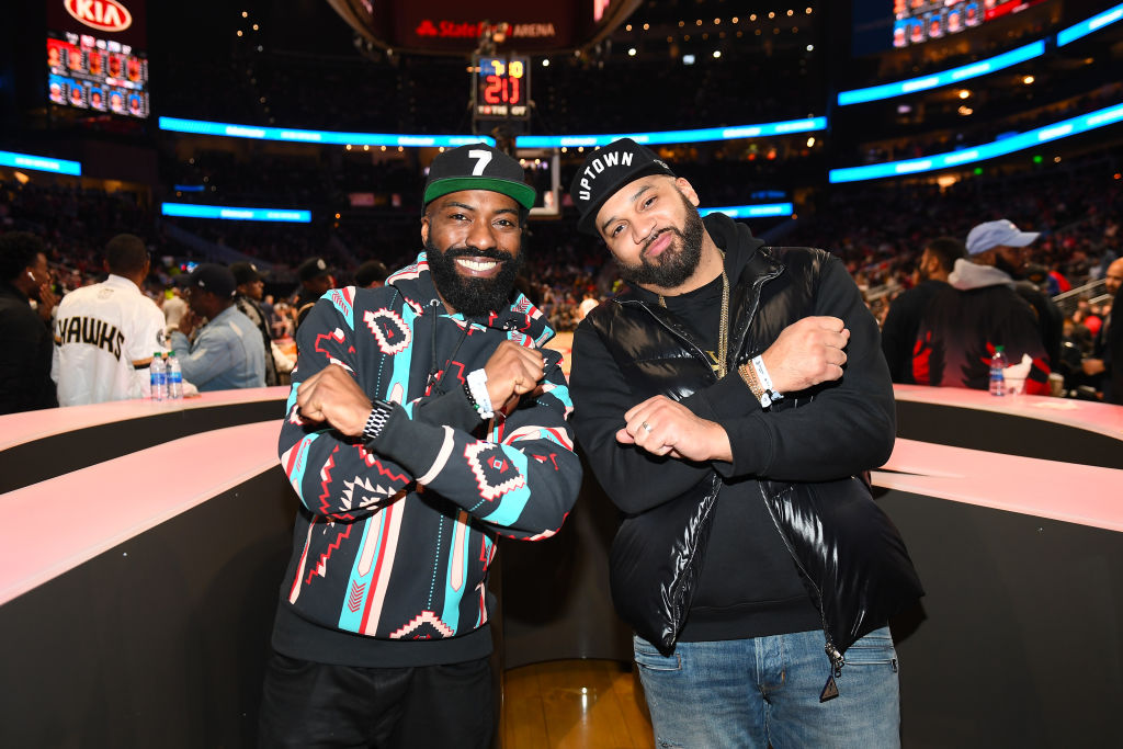 Celebrities Attend Philadelphia 76ers vs Atlanta Hawks