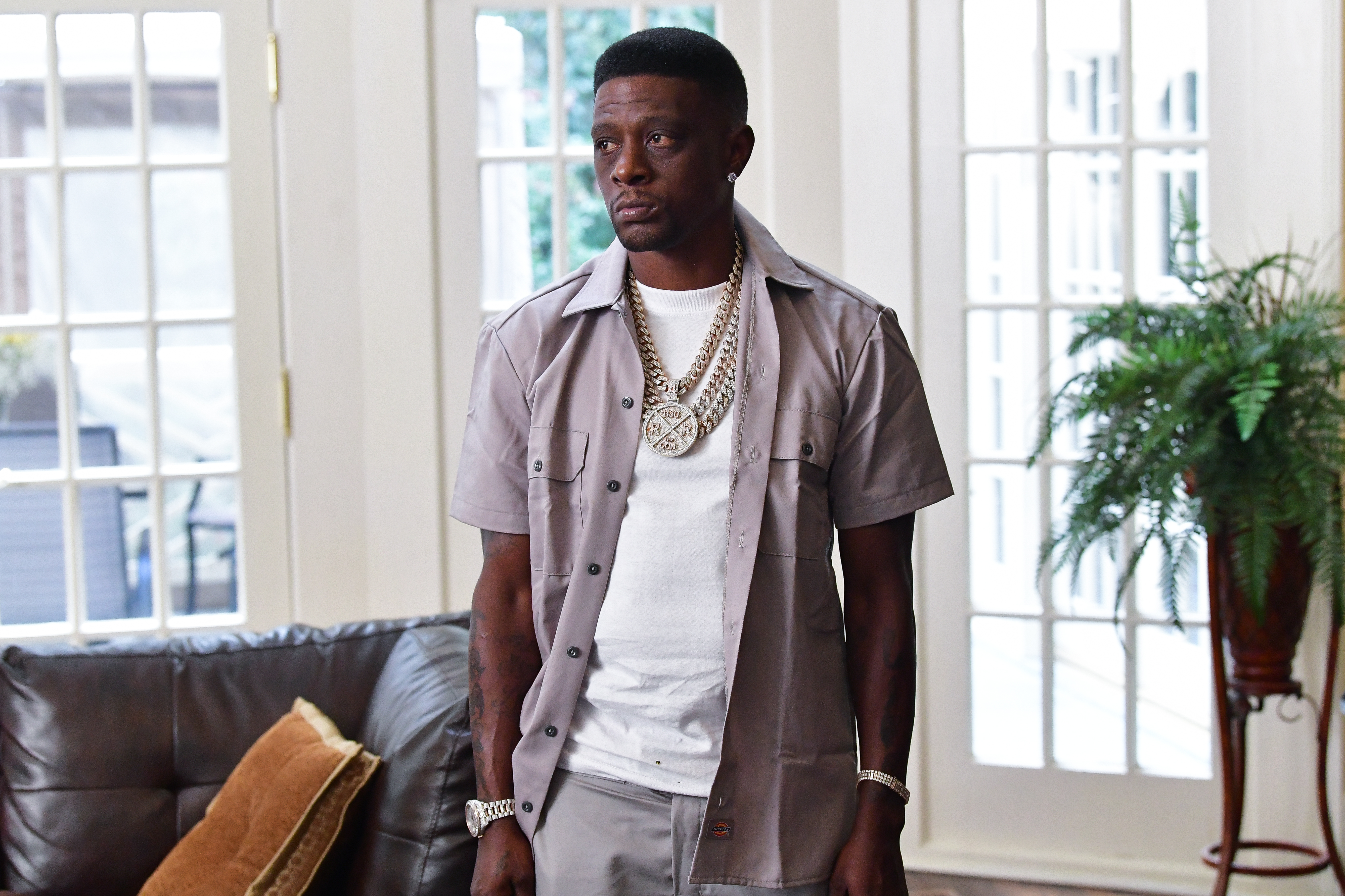 Lil Boosie on set