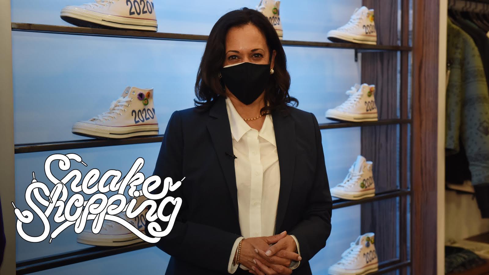 Kamala Harris On Sneaker Shopping