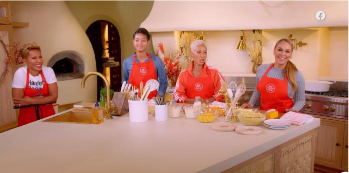 Red Table Talk Tabitha Brown, Jada Pinkett-Smith, Sheree Zampino and Willow Smith