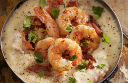 Shrimp and Grits - stock photo