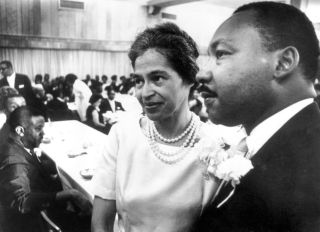 Dr. Martin Luther King and Rosa Parks
