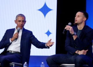 "Barack Obama and Golden State Warriors Stephen Curry at My Brother""u2019s Keeper Alliance Summit"
