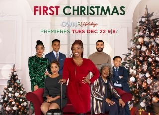 """Key Art and Production Stills for OWN holiday movie """"First Christmas"""" starring Idara Victor"""