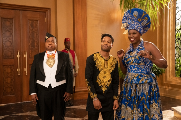 Leslie Jones, Jermaine Fowler and Coming 2 America Poster and Production Stills