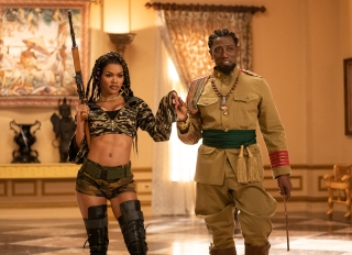 Teyana Taylor and Wesley Snipes star in Coming 2 America Poster and Production Stills