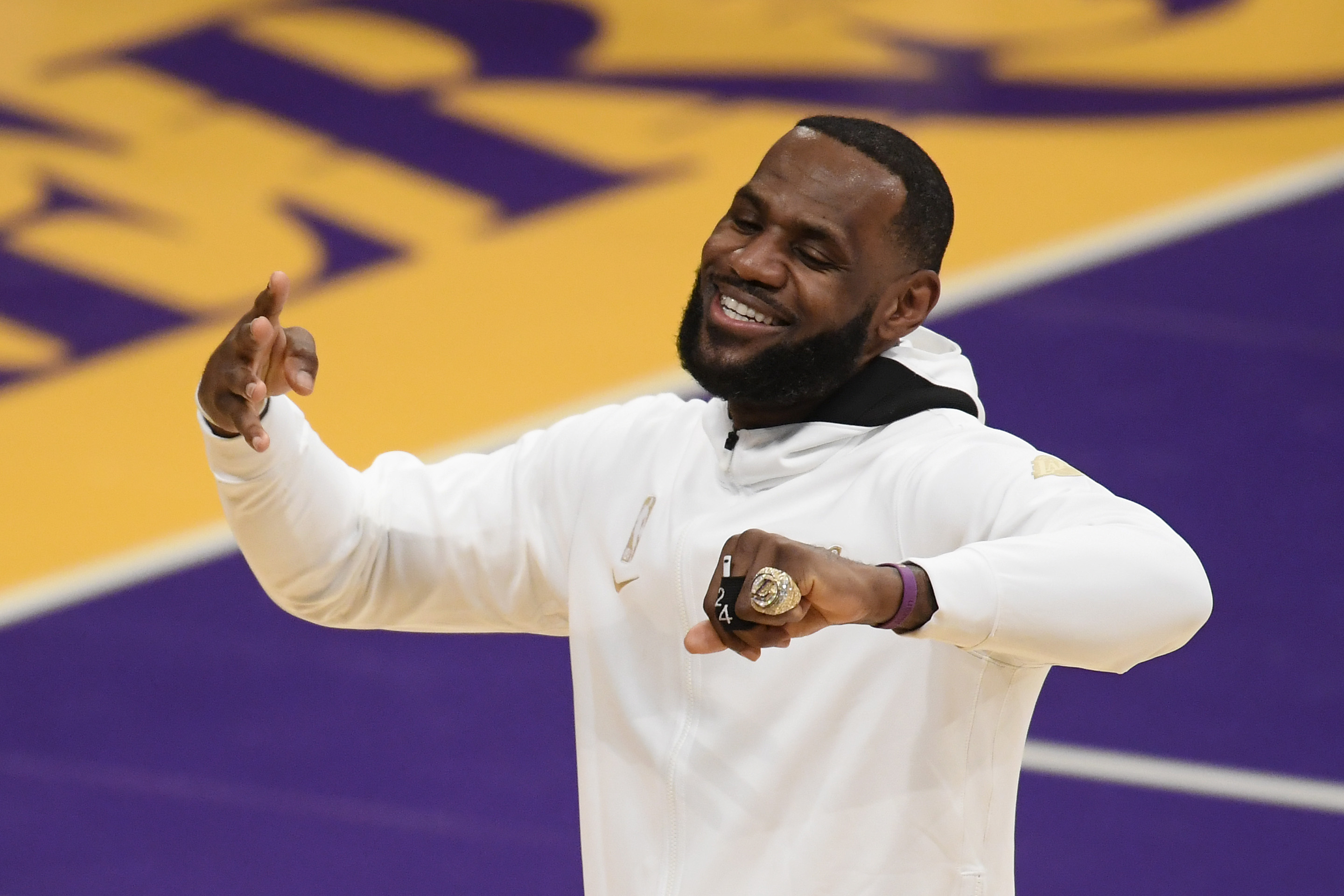 LeBron James Ring Ceremony