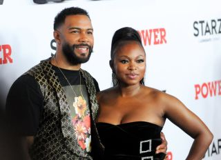Omari Hardwick (L) and Naturi Naughton attend the Power...