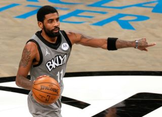 Kyrie Irving at the Washington Wizards v Brooklyn Nets game