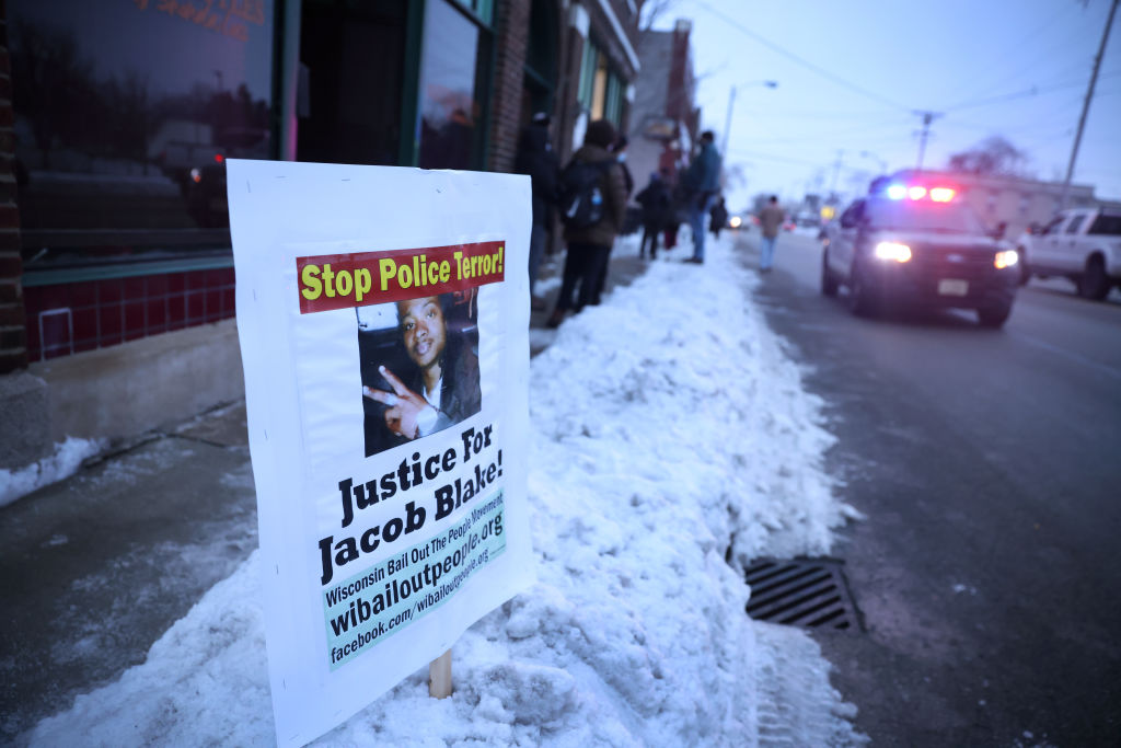 Activists March In Kenosha, Wisconsin As City Readies For Announcement Of Charges For Jacob Blake Shooting