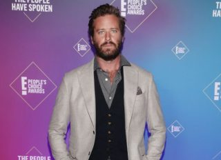 Armie Hammer at the 2020 E! People's Choice Awards - Backstage