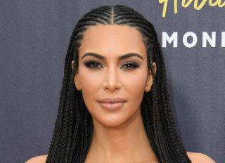 Kim Kardashian attends the 2018 MTV Movie Awards