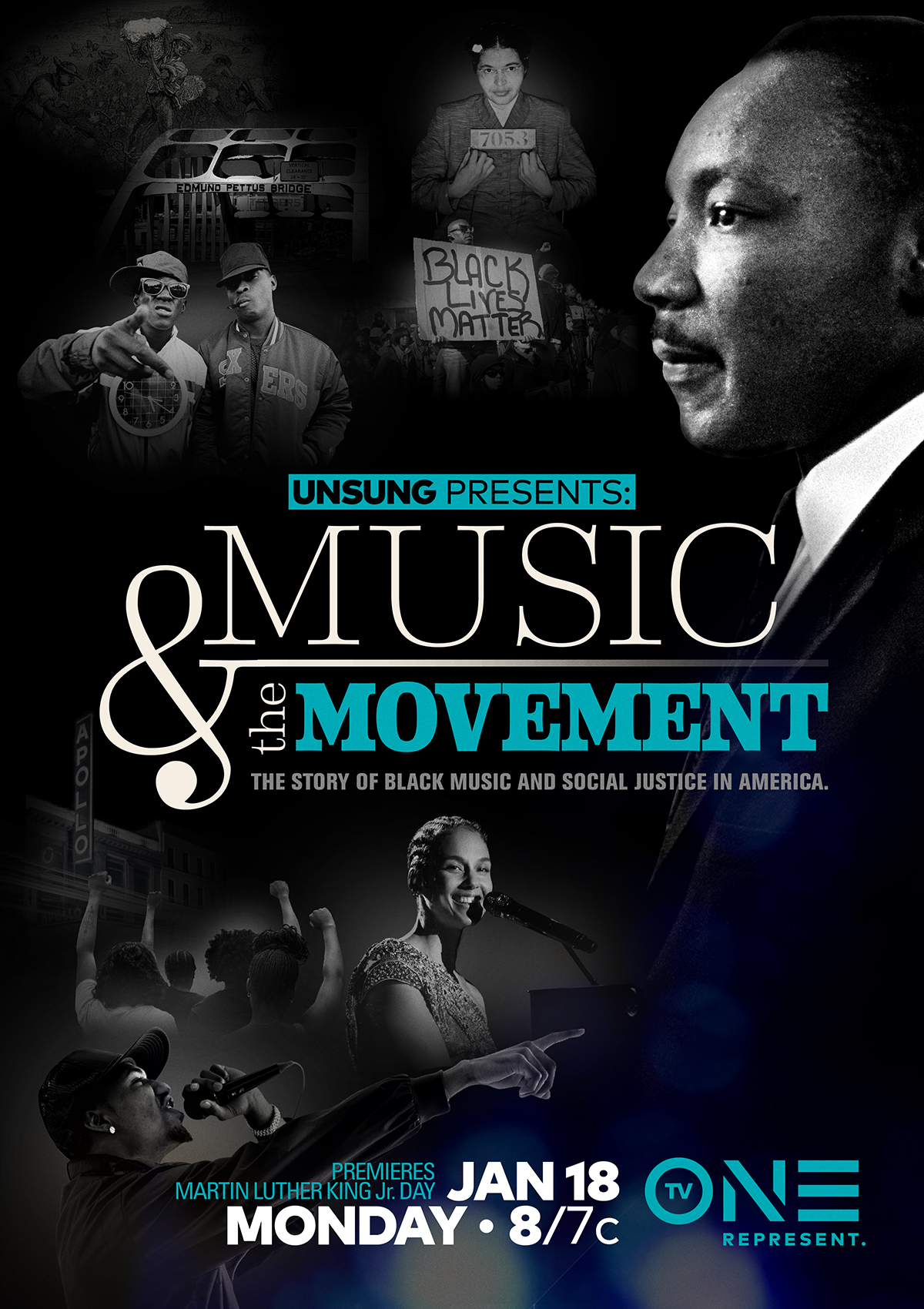 #MLKDay: TV One's 'UNSUNG PRESENTS: MUSIC & THE MOVEMENT' Airs Tonight At 8/7 C