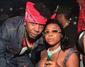 Reginae Carter and YFN Lucci At The 22 Hot Girl Birthday Party