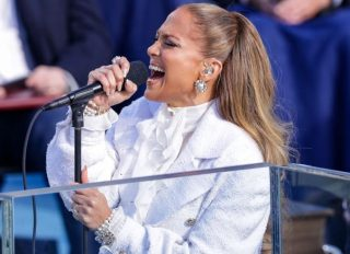 Jennifer Lopez Sings During The Inauguration Ceremony 2021