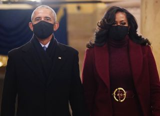 Barack Obama and Michelle Obama at the 2021 Presidential Inauguration