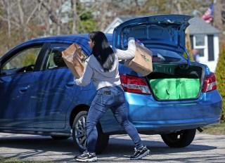 Instacart Worker Delivering Groceries