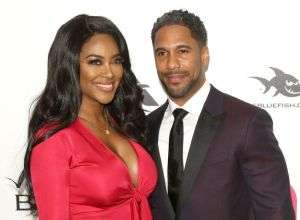 Kenya Moore and Marc Daley At The 26th Annual Elton John AIDS Foundation's Academy Awards Viewing Party