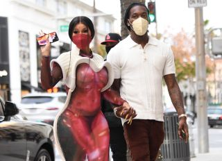 Cardi B and Offset shop in Beverly Hills at Louis Vuitton and Bottega Veneta