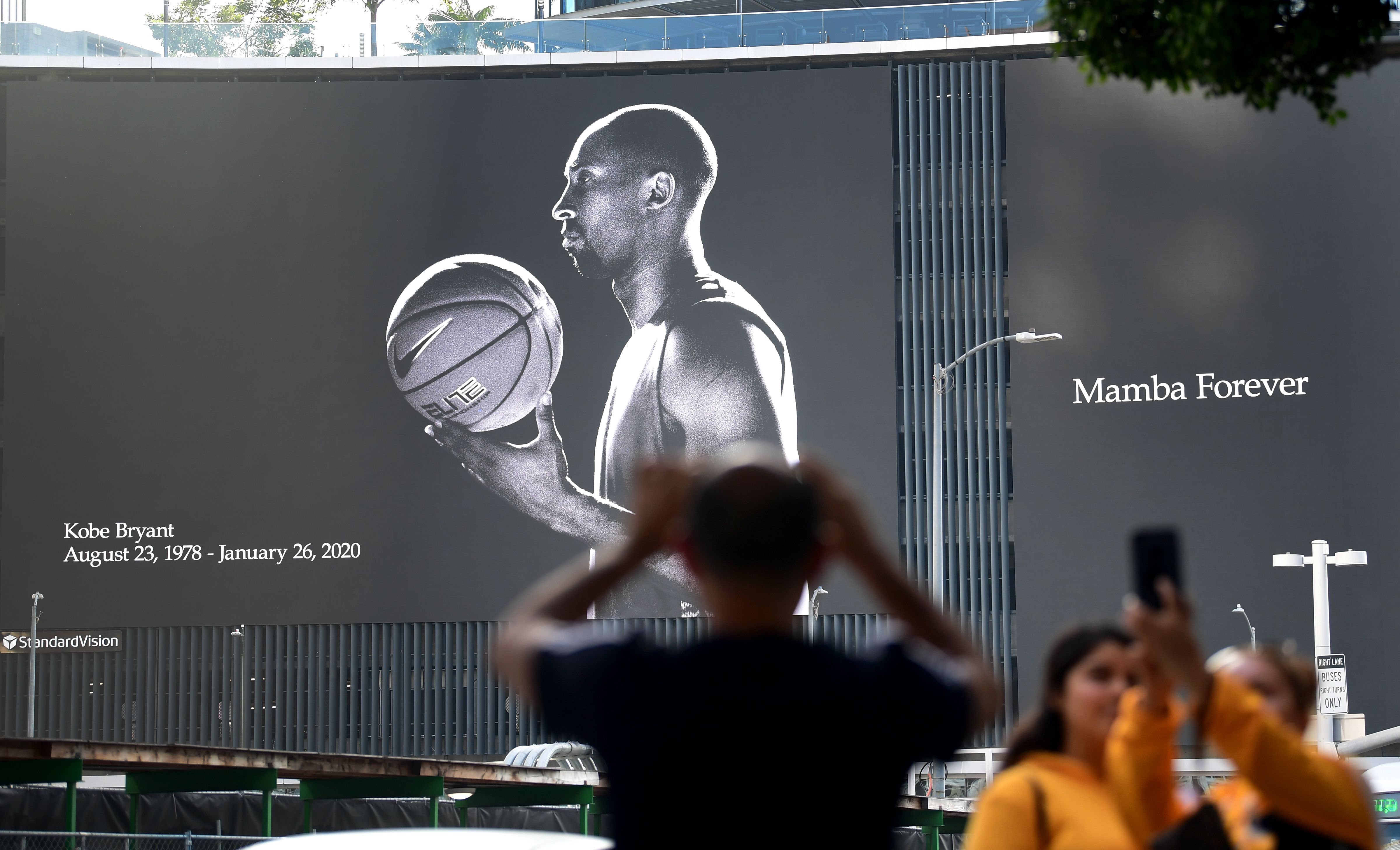 Kobe Bryant Staples Center Billboard Day He Passed